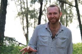 Andy Quitmeyer (above) is the host of Discovery Channel's latest television series, Hacking the Wild.