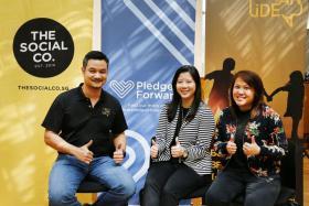 (From left) Mr Nadim van der Ros, Ms Cheryl Chong and Miss Rebekah Lin.