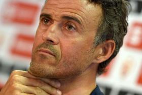Barcelona's coach Luis Enrique