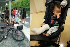 The 65-year-old was carrying her 13-month-old grandchild when she was hit,