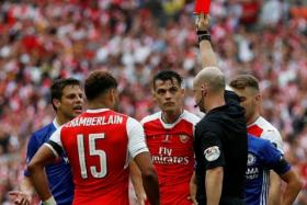 Chelsea manager Antonio Conte said that the dismissal of Victor Moses (on the ground) was a turning point in the Blues' FA Cup final against Arsenal.