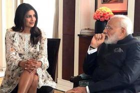 Priyanka Chopra with Indian Prime Minister Narendra Modi.