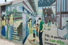 Hijab image vandalised at site of MRT station