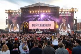 Music stars unite in  Manchester as fans face down fears