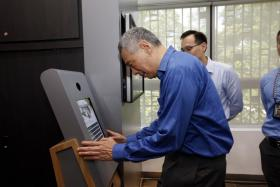 PM Lee Hsien Loong at the opening of CPIB's new Corruption Reporting and Heritage Centre.