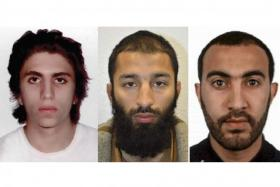 Terror suspects (from left) Youssef Zaghba, Khuram Shazad Butt and Rachid Redouane.