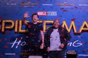 Tom Holland and Jacob Batalon at Spider-Man: Homecoming event