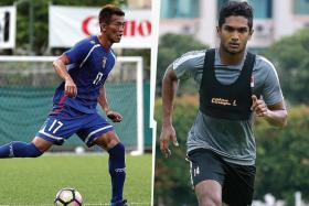 Taiwan's Chen Po-liang (above) and Singapore's Hariss Harun's tussle in the middle of the park will be key to deciding the outcome of the Asian Cup qualifier.