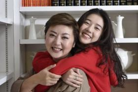 Actress and model Eleanor Lee (right), daughter of TV host Quan Yifeng (left), will star alongside Leon Lai in the Heavenly King's first TV drama series in 23 years.