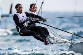 Cecilia Low (left) and Kimberly Lim are training and competing full-time towards qualifying for the 2020 Tokyo Olympics.
