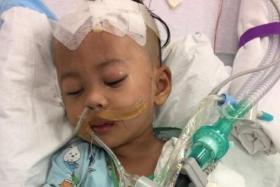Muhammad Raffique Rayfal in hospital.
