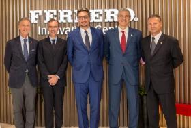 Ferrero chief executive Giovanni Ferrero (middle).