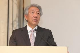DPM Teo Chee Hean speaking at a National University of Singapore in May 2017