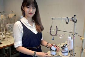 (Above) Ms Sihua Ariel Chen got a degree in fashion jewellery at the London College of Fashion.