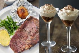 Steak and Watercress Bernaise and Tiramisini
