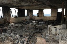 Grim aftermath inside Grenfell