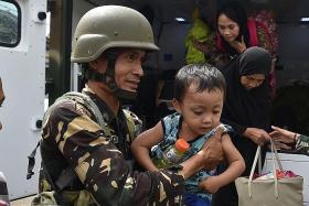 Militants flee from school
