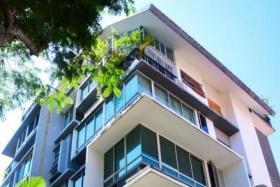 The facade of JC Residence condominium in Joo Chiat.