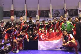 Thailand down Singapore in floorball final