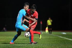 Singapore Under-23s downed 1-0 by India