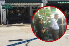 A 69-year-old man allegedly stabbed a 38-year-old man along Boon Tat Street around 1.20pm on Monday (July 10).