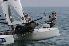 Sailors Justin Liu and Denise Lim are gunning for a spot in the Nacra 17 event at the Tokyo Olympics.