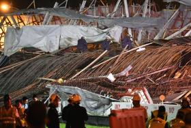Viaduct collapse: Temporary road open yesterday