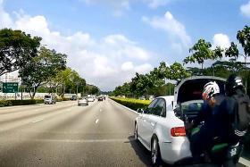 Certis Cisco officers flung off bike in accident