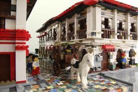 Lego masterpiece built using satellite images