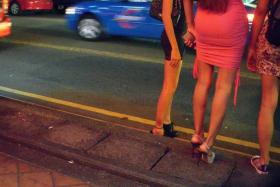 Foreign prostitutes in Geylang.