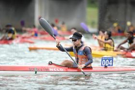 Para-canoeist Tan Hun Boon.