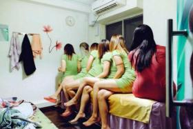Police raided seven massage parlours on Aug 2, arresting six women in the process.
