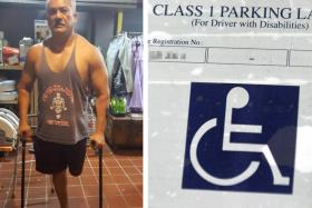 Mr Kalai Vanen was worried he would lose the label allowing him to park in accessible lots.