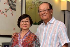 Dr Lim Whye Geok and Madam Leow Oon Geok.
