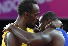 Bolt beaten in final solo sprint