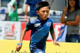 JSSL is on the lookout for talents like Caelan Cheong, 11, a JSSL academy player who was invited to train with Fulham.