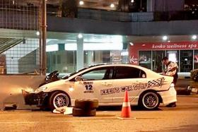 A 29-year-old man died from his injuries in hospital after crashing his car into a concrete barrier in Raffles Boulevard early on Thursday (Aug 10) morning. The victim, who has been identified as Mr Ng Phing Keen, was understood to have lost control of his Honda Civic, which skidded and crashed into the barrier.