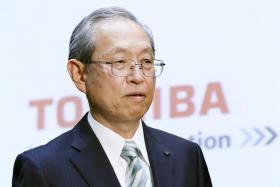 Satoshi tsunakawa, president and CEo of toshiba Corp.