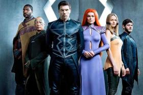 Marvel's Inhumans is based on a super-powered royal family, whose members are played by (from left) Eme Ikwuakor, Ken Leung, Anson Mount, Serinda Swan, Isabelle Cornish, and Iwan Rheon.