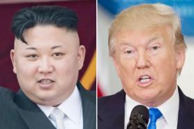 North Korean leader Kim Jong Un (above, left) and US President Donald Trump (right).
