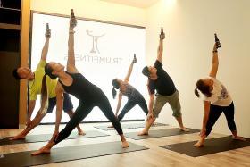 Strike balance with beer yoga