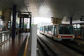 Mr Ang Boon Tong fell off the platform undetected onto the tracks at Fajar LRT station (above) at around 12.40am on March 24. He was hit by two driverless trains before he was spotted