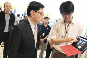 Finance Minister Heng Swee Keat at Leaders in Science Forum.