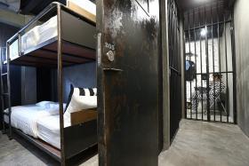 Prison-themed hostel experience in Bangkok