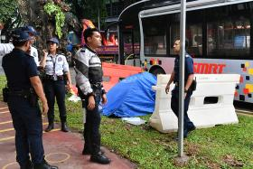 A 70-year-old woman who was trapped under a bus after an accident in Ang Mo Kio on Saturday (Aug 19) morning was pronounced dead by paramedics on the scene.