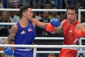 Filipino-British boxer wins gold in 21 seconds