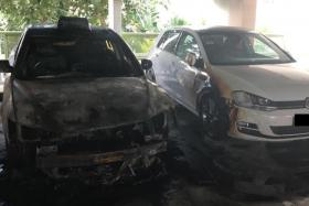 Three vehicles damaged in Sengkang carpark fire