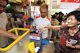 Cashless hawker centre