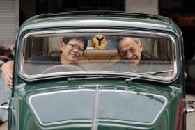 For father-and-son duo David (right) and Brian Chan, happiness is a classic car.