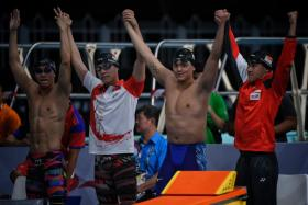 Kudos to Singapore's aquatics contingent, who delivered the bulk of the country's gold medals at the Games.